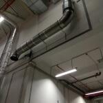 23. Завершающий этап прокладки кабель-канала, кабеля и воздуховода